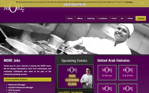 Screenshot of Jobs Page morecafe.co - mOre Café - Jobs - captured Oct. 3, 2014