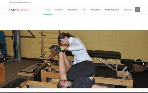 Screenshot of Home Page vajrapilates.com - Vajra Pilates and Muscle Activation: Pilates in Bellevue - captured July 1, 2018