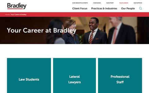 Screenshot of Jobs Page bradley.com - Bradley - captured Nov. 7, 2016