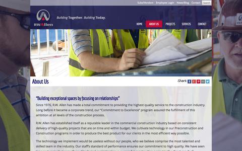 Screenshot of About Page rwallen.com - Augusta, Ga Commercial Contractor - captured Oct. 27, 2014
