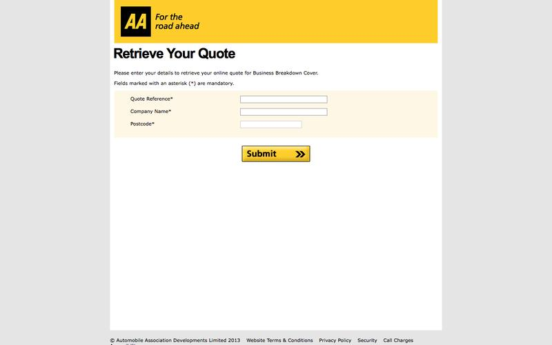The AA - Business Customer Administration System