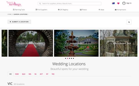 Screenshot of Locations Page easyweddings.com.au - Garden Wedding Locations - Easy Weddings - captured May 14, 2017