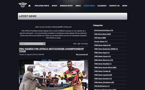 Screenshot of Blog webs.com - LATEST NEWS - captured Aug. 9, 2018