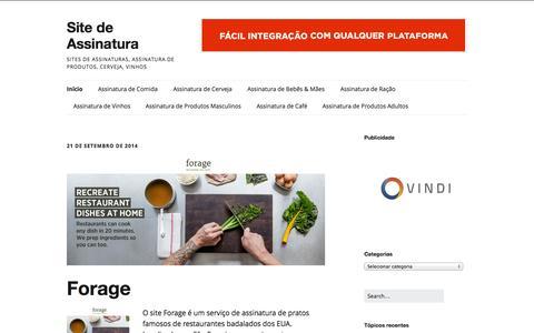 Screenshot of Home Page sitedeassinatura.com - Site de Assinatura - Sites de Assinaturas, Assinatura de Produtos, Cerveja, Vinhos - captured Sept. 19, 2014