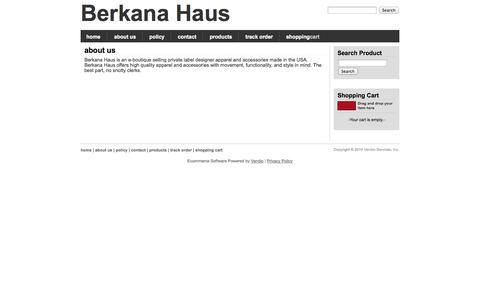 Screenshot of About Page berkanahaus.com - About, Berkana Haus - captured Sept. 30, 2014