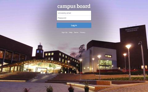 Screenshot of Login Page campusboard.co.uk - Log In | Campusboard - captured Sept. 27, 2014