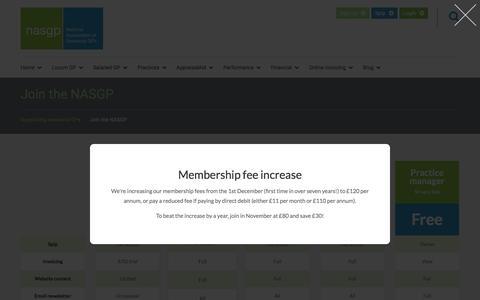 Screenshot of Signup Page nasgp.org.uk - NASGP membership - captured Nov. 28, 2016