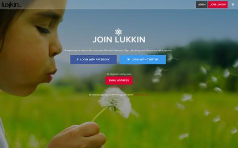 Screenshot of Signup Page lukkin.com - Join - Lukkin - captured Sept. 16, 2014