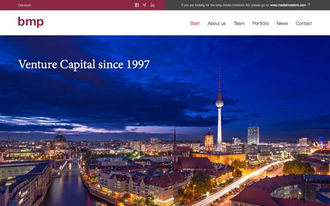 Screenshot of Home Page bmp.com - Start | bmp - captured Sept. 30, 2014