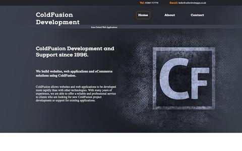 Screenshot of Home Page coldfusiondev.co.uk - ColdFusion Development - captured Sept. 12, 2015