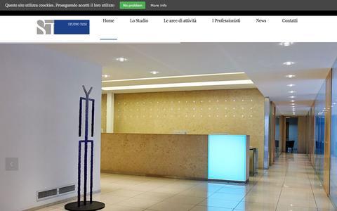 Screenshot of Home Page studiotosi.com - Tosi studio legale e tributario   HomepageStudio Tosi - captured Oct. 13, 2015
