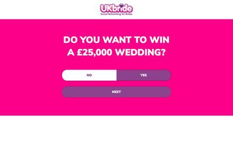 Screenshot of Signup Page ukbride.co.uk - Win a Wedding | UKbride - captured July 1, 2017