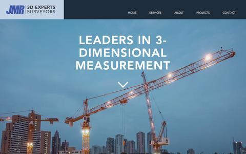 Screenshot of Home Page jmrss.com - JMR   3D EXPERTS & SURVEYORS - captured Nov. 18, 2016