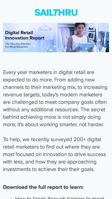 The Digital Retail Innovation Report | Sailthru