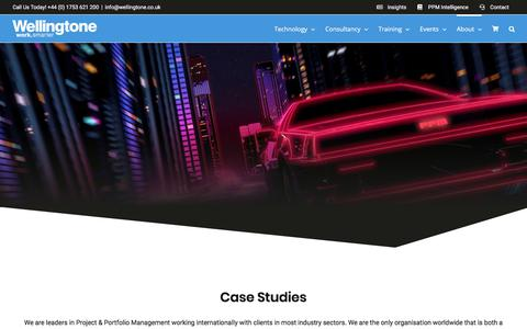 Screenshot of Case Studies Page wellingtone.co.uk - Case Studies   Wellingtone - captured Jan. 26, 2020