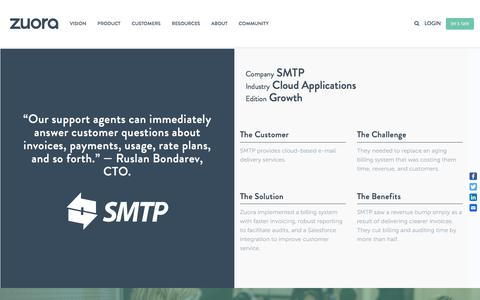 Screenshot of Case Studies Page zuora.com - SMTP Case Study - Zuora - captured Sept. 11, 2017