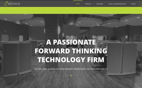 Screenshot of Home Page accellis.com - Managed Services Provider | Accellis Technology Group, Inc. - captured Nov. 20, 2016
