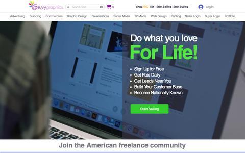 Screenshot of Signup Page gruvygraphicdesign.com - Freelance Designers   Seller Sign-Up   Gruvy Graphics - captured Sept. 30, 2018