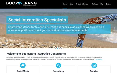 Screenshot of Home Page boomerangconsultants.co.uk - Boomerang Integration Consultants - captured Oct. 5, 2014
