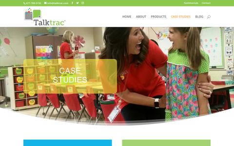 Screenshot of Case Studies Page talktrac.com - Case Studies - Talktrac® Software - captured Oct. 20, 2018