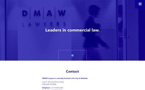 Screenshot of Contact Page dmawlawyers.com.au - DMAW Lawyers |   Contact - captured Aug. 5, 2018