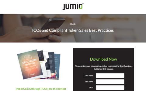 Screenshot of Landing Page jumio.com - ICOs & Compliant Token Sales Best Practices - captured April 1, 2018