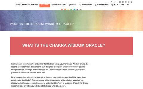 Screenshot of About Page chakrawisdomoracle.com - What is the Chakra Wisdom Oracle? – Chakra Wisdom Oracle - captured Oct. 29, 2017