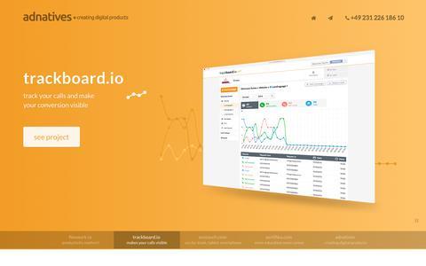 Screenshot of Home Page adnatives.com - adnatives +creating digital products - captured Nov. 21, 2016