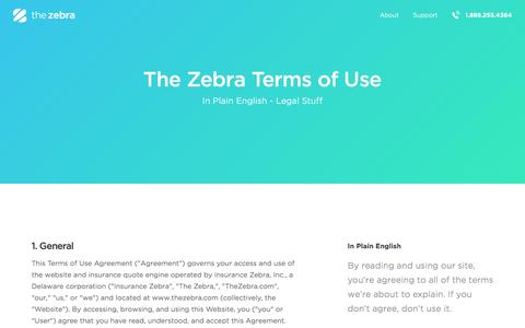 Terms of Service | The Zebra