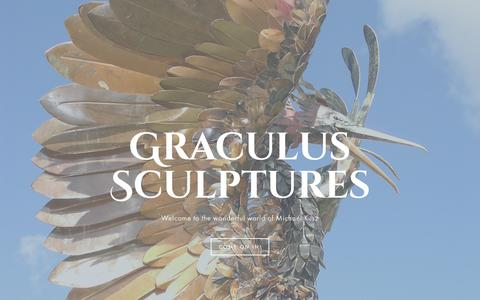 Screenshot of Home Page graculus.co.uk - Graculus Sculptures - captured Sept. 30, 2018