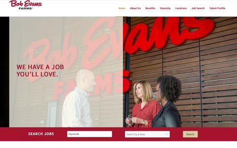 Screenshot of Jobs Page bobevans.com - Bob Evans farm career employment home - captured June 2, 2017