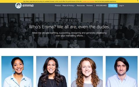 Screenshot of Team Page myemma.com - Email Marketing Services - Email Marketing Software - Email Marketing | Emma, Inc. - captured Dec. 1, 2015