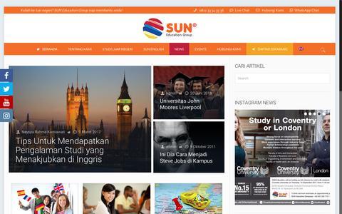 Screenshot of Press Page suneducationgroup.com - News Events - captured Sept. 20, 2017