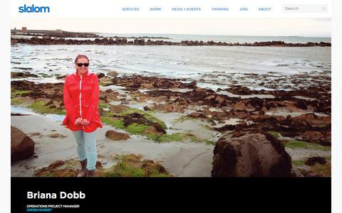 Screenshot of Team Page slalom.com - Briana Dobb | Slalom - captured Jan. 20, 2018