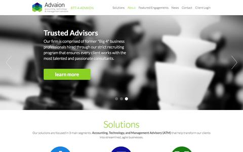 Screenshot of Jobs Page advaion.com - Advaion | Internal Audit, SOX Compliance, IT Consulting - captured Oct. 4, 2014