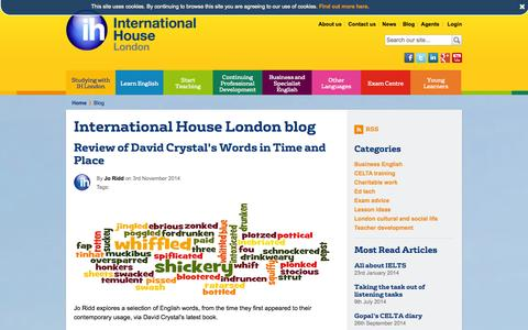 Screenshot of Blog ihlondon.com - Blog | International House London - captured Nov. 5, 2014