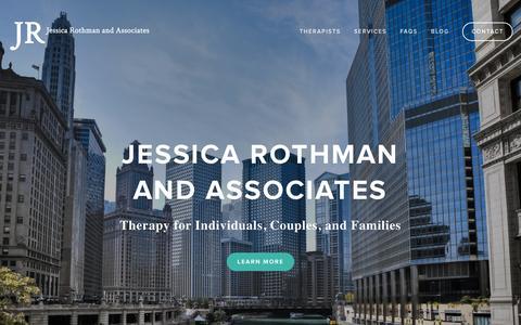 Screenshot of Home Page jessicarothman.com - Jessica Rothman and Associates - captured Sept. 7, 2015