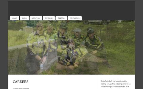 Screenshot of Jobs Page deltapaintball.org - Careers | Delta Paintball, Inc. - captured Oct. 8, 2018