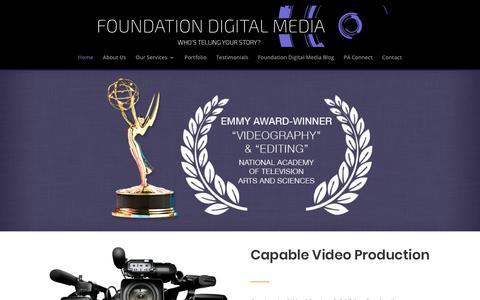 Screenshot of Home Page foundationdigitalmedia.com - Washington DC Video Production Company | Foundation Digital Media - captured May 18, 2018
