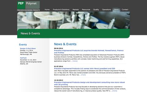 Screenshot of Press Page peppolymet.com - News | PEP Polymet - captured Oct. 9, 2014