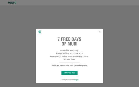 Screenshot of Signup Page mubi.com - MUBI Sign Up - captured July 12, 2018
