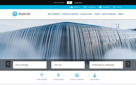 Screenshot of Home Page statkraft.com - Statkraft - captured July 11, 2014