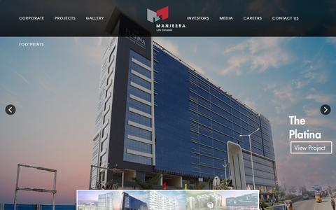 Screenshot of Home Page manjeera.com - Manjeera - captured Jan. 20, 2016