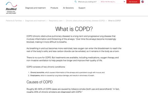 What is COPD? (chronic obstructive pulmonary disease).