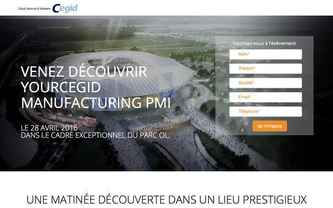 Screenshot of Landing Page cegid.com - Cegid PMI - Rencontrez-nous dans un cadre exceptionnel - captured Sept. 20, 2018