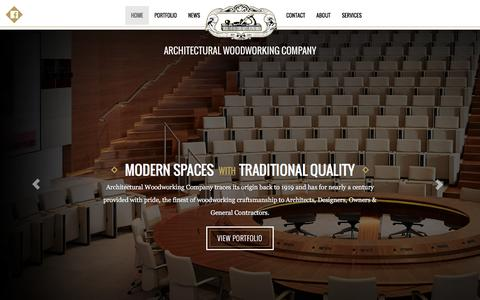 Screenshot of Home Page awcla.com - AWC Architectural Woodworking Company - captured Feb. 6, 2016