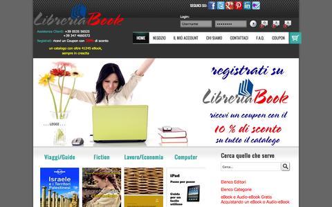 Screenshot of Home Page libreriabook.com - LibreriaBook | Home Page - captured Oct. 8, 2014
