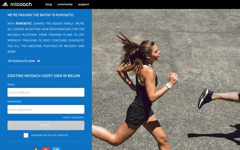 Screenshot of Products Page adidas.com - adidas miCoach: The Interactive Personal Coaching and Training System - captured Feb. 16, 2017