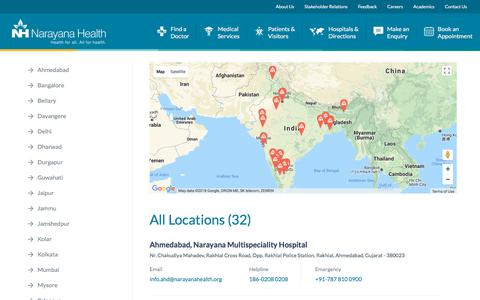 Locations & Contact Details Narayana Health | Best Multispeciality Hospital Chain in India