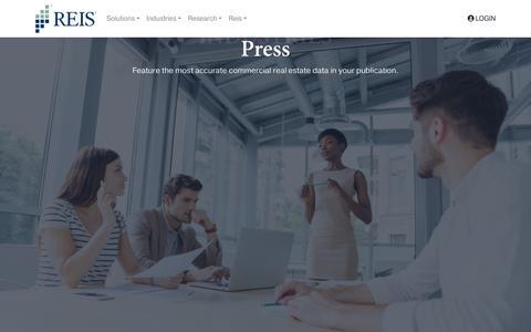 Screenshot of Press Page reis.com - Press » Reis - captured July 30, 2018